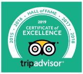 Hall of Fame Trip Advisor Certificate