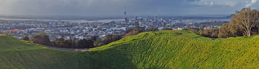panorama of Auckland City