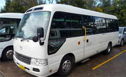 Toyota Coaster for private tours in sydney