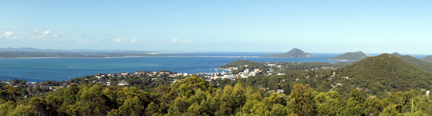 panorama of Port Stephens