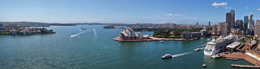 panorama of sydney harbour
