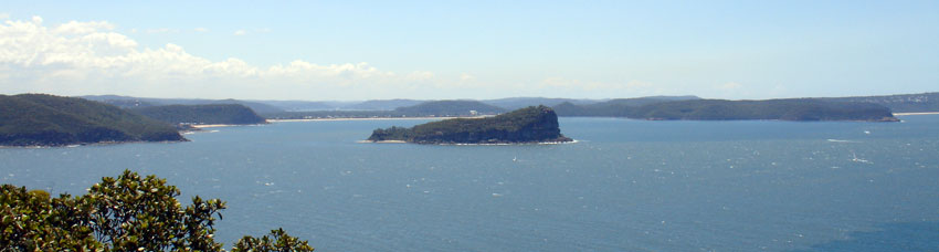 panorama of Ku-ring-gai Chase National Park bays