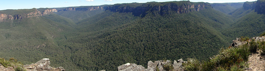 Great Blue Mountains Canyon Panorama