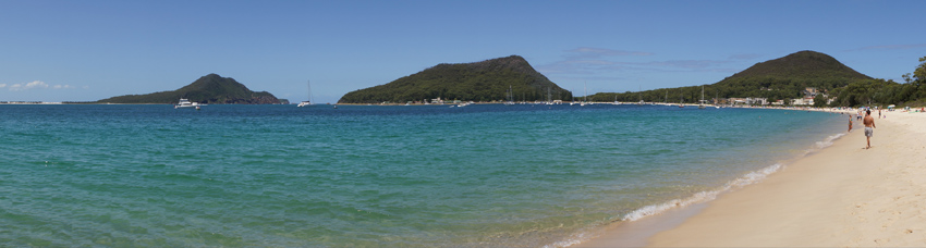 panorama of Nelson Bay