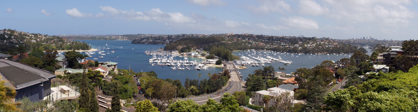 panorama of Balgowlah